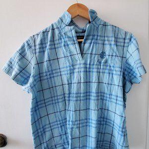 Burberry Golf Plaid Polo Shirt